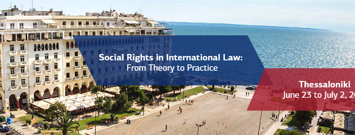 "2021 Summer Courses on ""Social Rights in International Law: From Theory to Practice"""